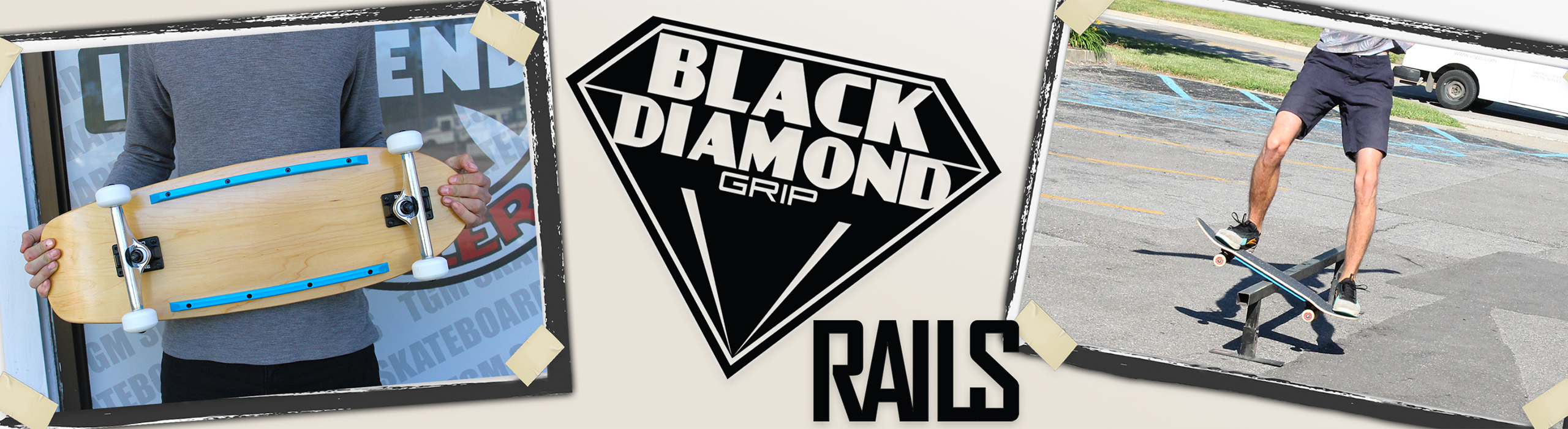 Black Diamond Rails for Skateboards & Old School Skateboards